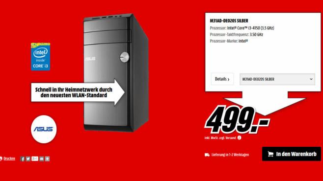 Asus M31AD-DE020S ©Media Markt