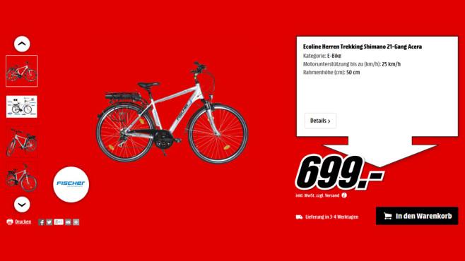 Fischer Ecoline Herren Trekking-E-Bike ©Media Markt