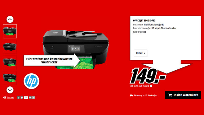 HP Office Jet 5740 E-AIO © Media Markt