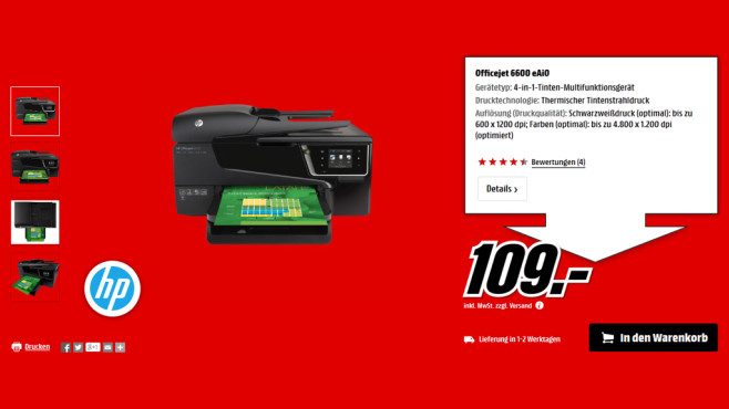 HP Officejet 6600 © Media Markt