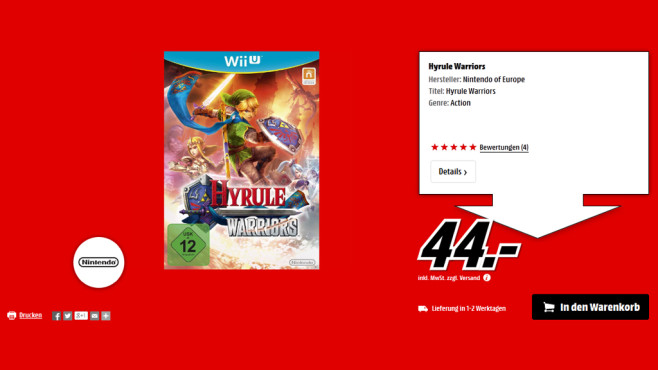 Hyrule Warriors © Media Markt