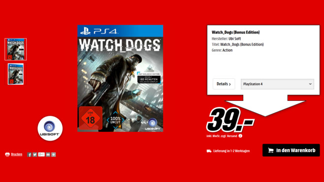 Watch Dogs © Media Markt