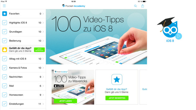100 Video-Tipps zu iOS 8 f�r iPad & iPhone © Falkemedia digital GmbH