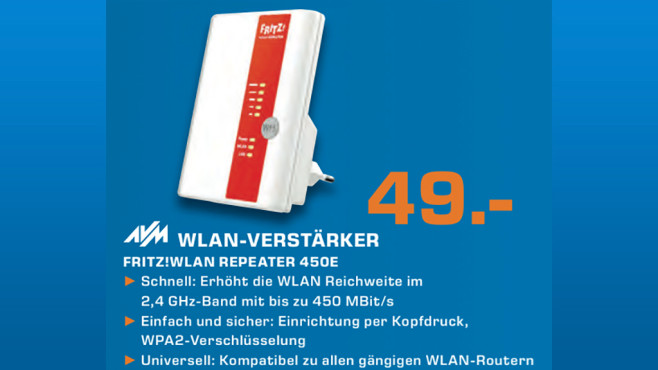 AVM FRITZ!WLAN Repeater 450E © Saturn