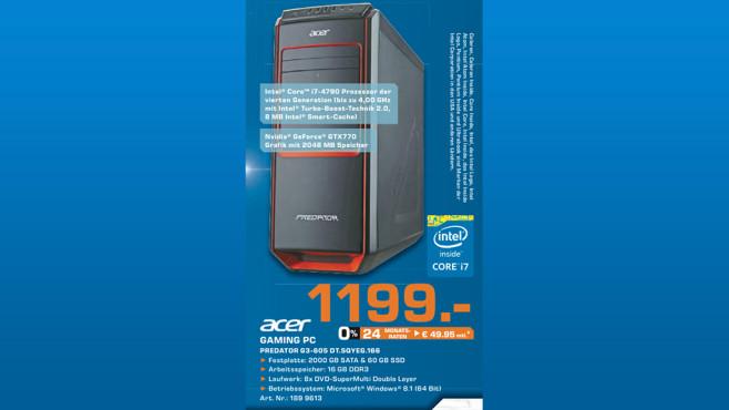 Acer Predator G3-605 DT.SQYEG.166 ©Saturn