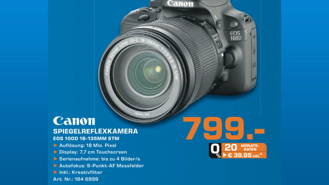 Canon EOS 100D Kit 18-135 mm ©Saturn