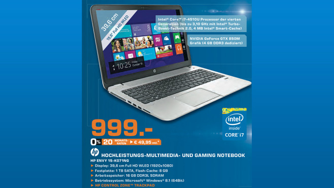 Hewlett-Packard Envy 15-K071NG © Saturn