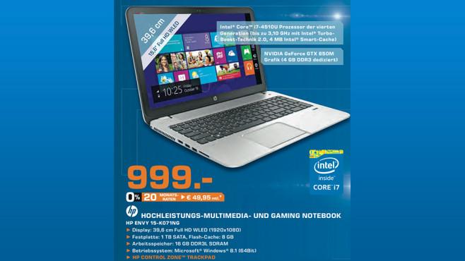 Hewlett-Packard Envy 15-K071NG ©Saturn