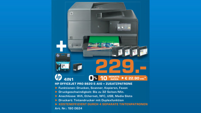 Hewlett-Packard HP Officejet Pro 8620 e-All-in-One (A7F65A) © Saturn