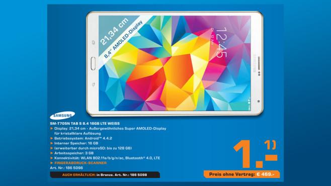 Samsung Galaxy Tab S 8.4 16GB LTE ©Saturn