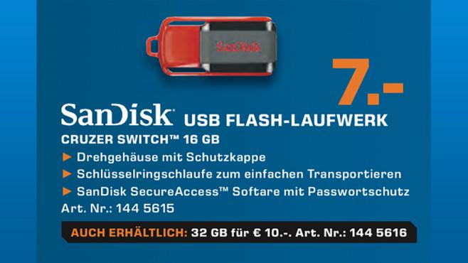 SanDisk Cruzer Switch 16 GB ©Saturn