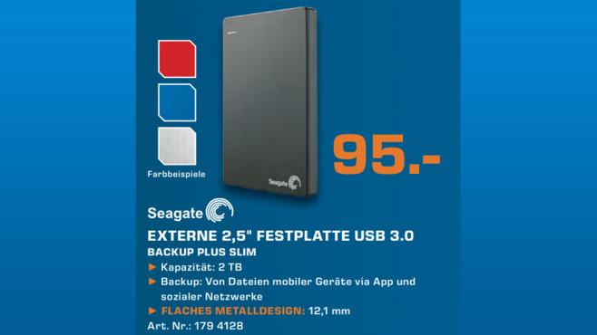 Seagate Backup Plus Slim Portable USB 3.0 2TB ©Saturn