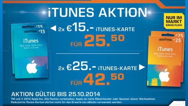 iTunes-Guthabenkarten ©Saturn
