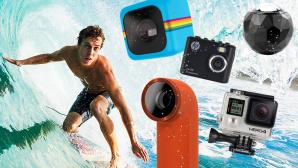 GoPro Action-Cam Neuheiten 2014: Alle Highlights in der �bersicht Es muss nicht immer die teure GoPro sein: Action-Cams gibt es wie Sand am Meer. COMPUTER BILD zeigt Trends und Neuheiten 2014.  ©GoPro, HP, Polaroid, HTC,360Fly EpicStockMedia - Fotolia.com