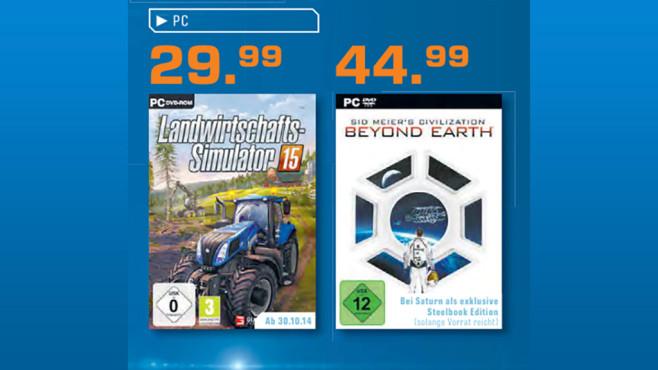 Aktuelle Spiele-Hits für dem PC ©Saturn