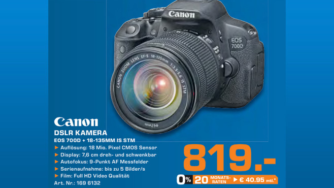 Canon EOS 700D Kit 18-135 mm © Saturn