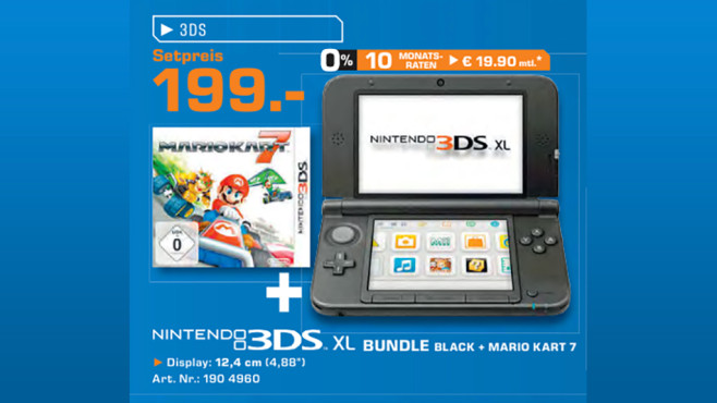 Nintendo 3DS XL + Mario Kart 7 © Saturn