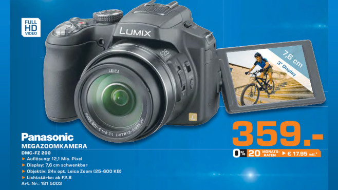 Panasonic Lumix DMC-FZ200 © Saturn