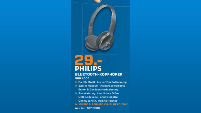 Philips SHB4000 © Saturn