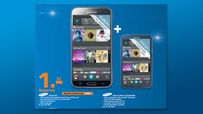 Samsung: Smartphone und Tablet im Set ©Saturn