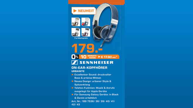 Sennheiser URBANITE © Saturn
