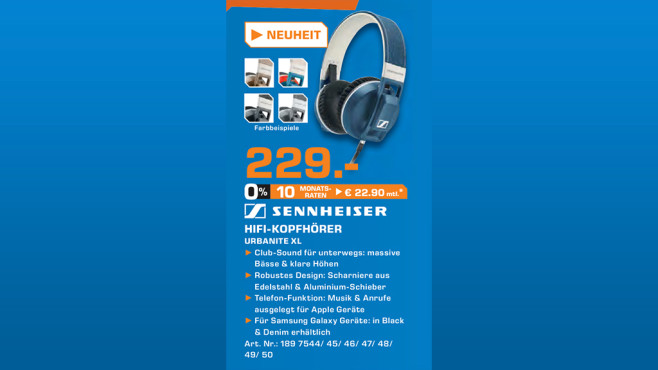 Sennheiser Urbanite XL © Saturn