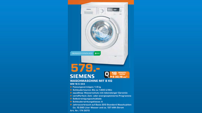 Siemens WM16S444 © Saturn
