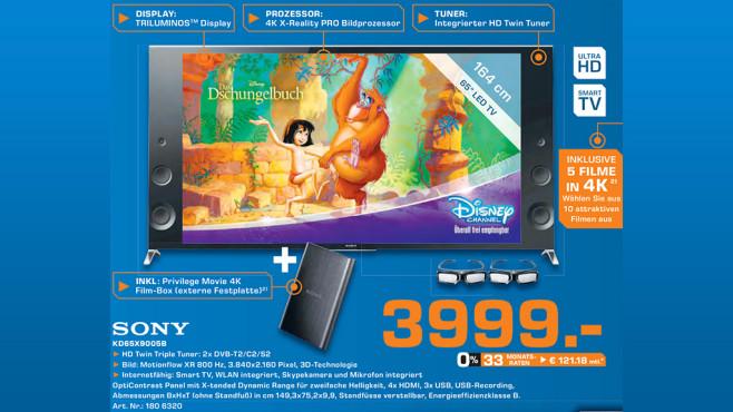 Sony KD-65X9005B ©Saturn