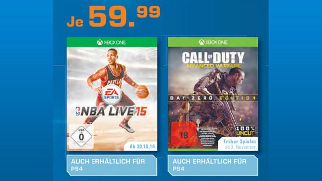Spiele-Neuerscheinungen für Xbox One und PS4 ©Saturn