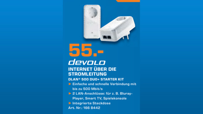 devolo dLAN 500 duo+ Starter Kit © Saturn