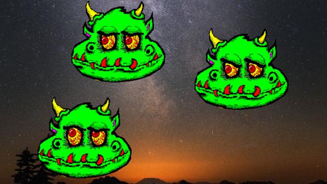 Monster Eyes 95: Grünes Wesen für den Desktop ©COMPUTER BILD