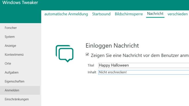 Windows Tweaker: Mit PC-Nachrichten andere erschrecken ©COMPUTER BILD