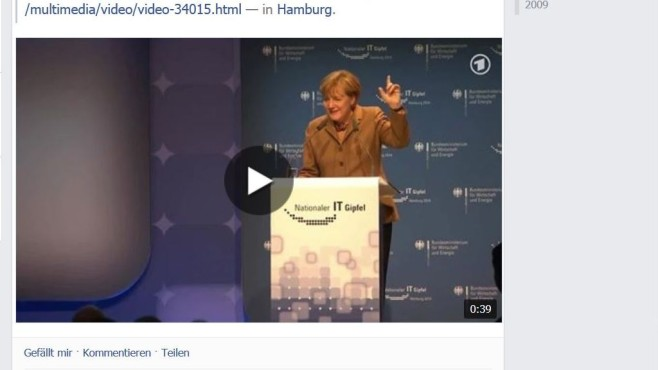 Facebook Merkel Video © COMPUTER BILD