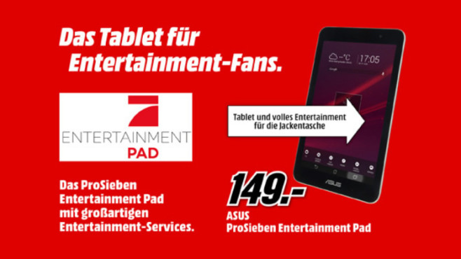 Asus MeMO Pad 8 (ME181CX) (ProSieben Entertainment Pad) © Media Markt