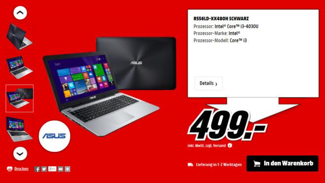 Asus R556LD-XX480H ©Media Markt