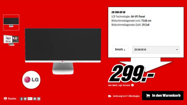 LG 29UM65-W ©Media Markt