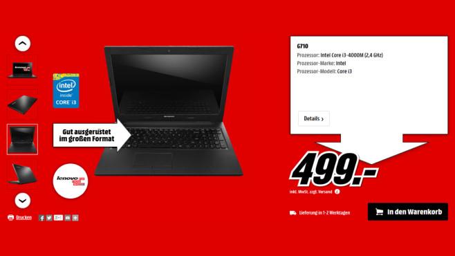 Lenovo IdeaPad G710 ©Media Markt