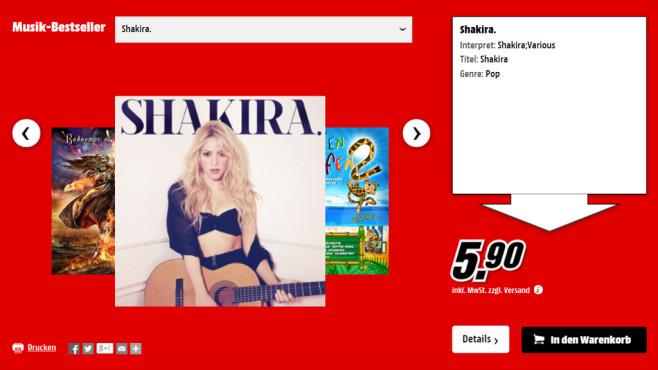 Musik-CDs ©Media Markt