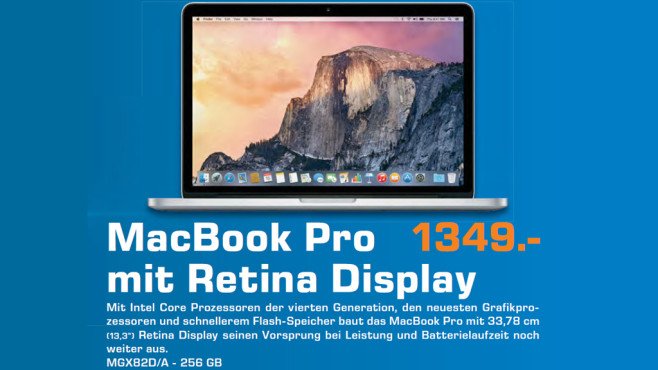 "Apple MacBook Pro 13"" Retina © Saturn"