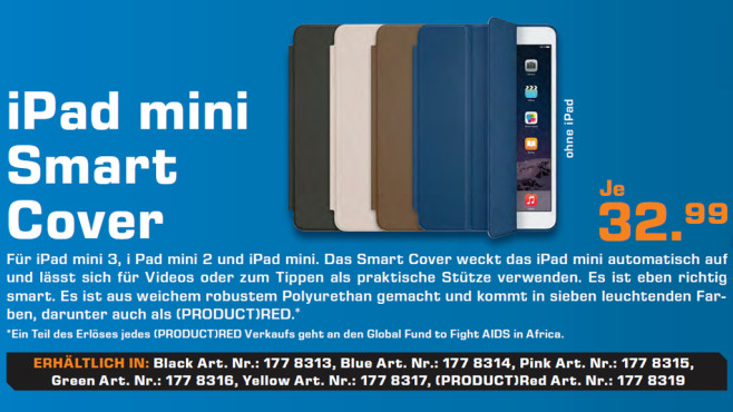 Apple Smart Cover für iPad Mini © Saturn