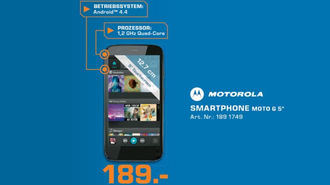 Motorola Moto G (2. Generation) ©Saturn