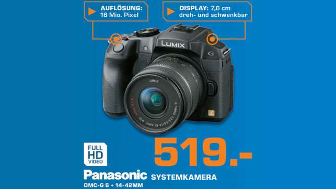Panasonic Lumix DMC-G6 Kit 14-42 mm © Saturn