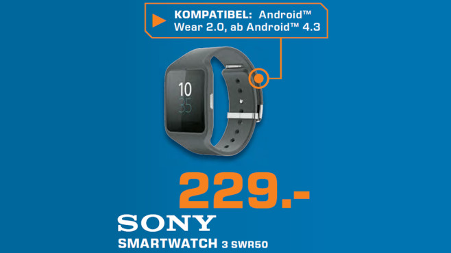 Sony SmartWatch 3 © Saturn