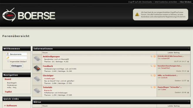 Screenshot boerse.bz ©COMPUTER BILD