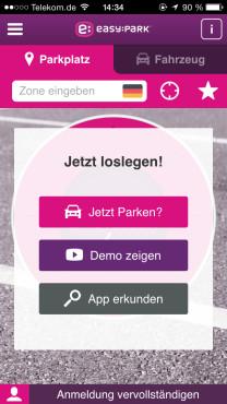 Parksuche-App ©Easypark