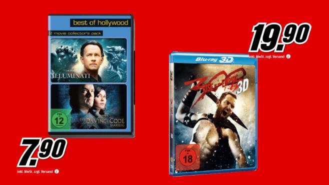 Diverse DVDs und Blu-rays ©Saturn
