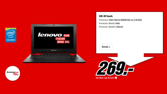 Lenovo IdeaPad S20-30 © Saturn