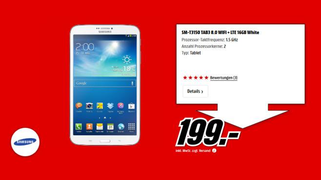 Samsung Galaxy Tab 3 (8.0) 16GB LTE ©Saturn