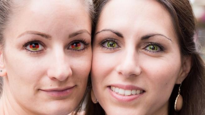 Farbige Kontaktlinsen ©obs/Zentralverband der Augenoptiker und Optometristen