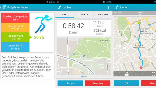 Fitness Lauf-App Abnehmen & Diät ©FITAPP